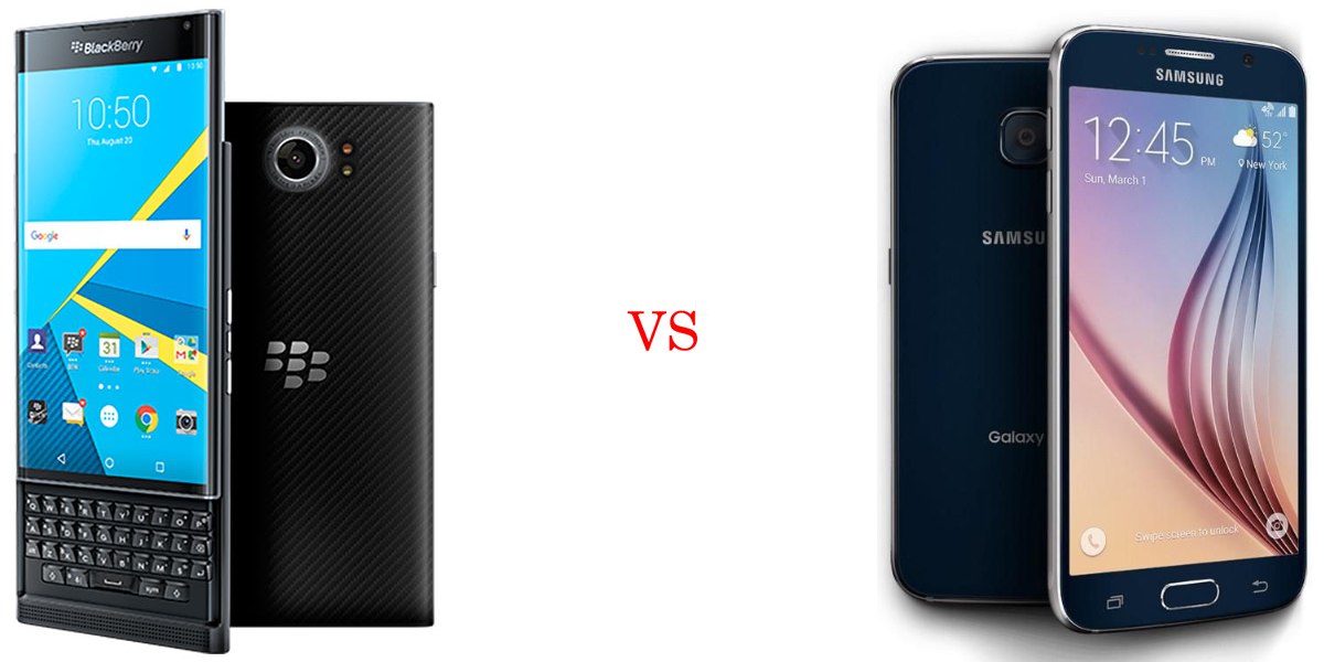 BlackBerry Priv versus Samsung Galaxy S6 1