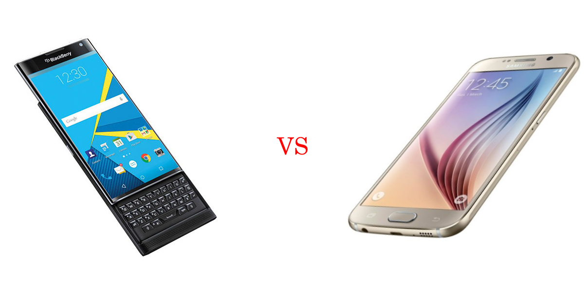 BlackBerry Priv versus Samsung Galaxy S6 3