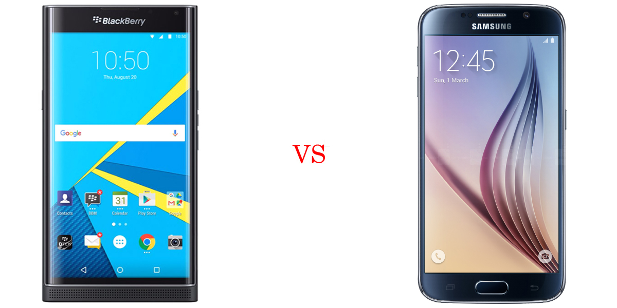 BlackBerry Priv versus Samsung Galaxy S6 4