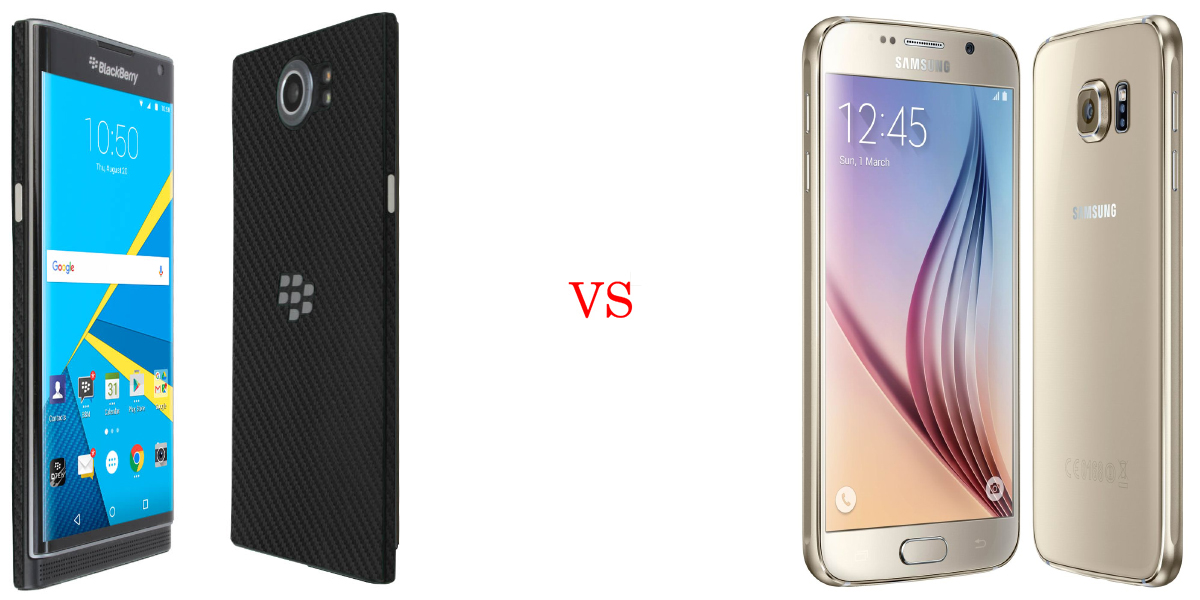 BlackBerry Priv versus Samsung Galaxy S6 5