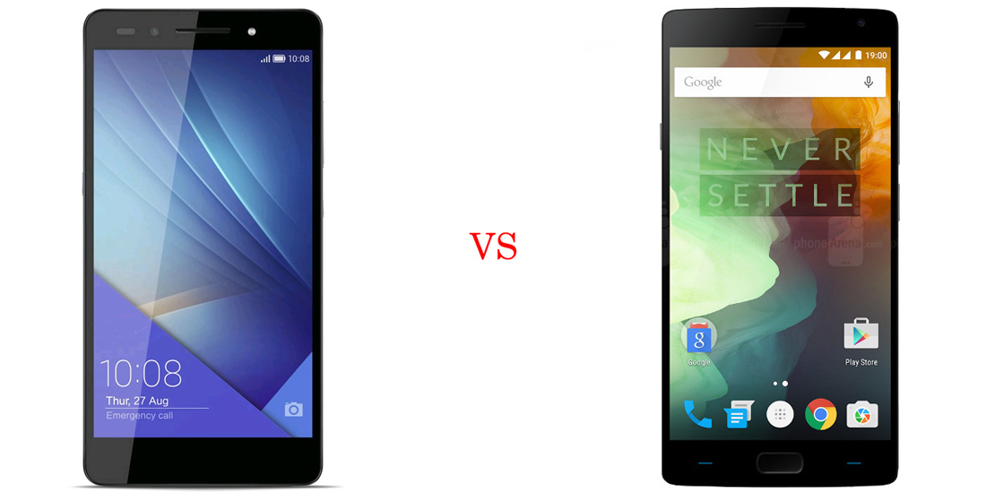 Huawei Honor 7 versus OnePlus Two 2
