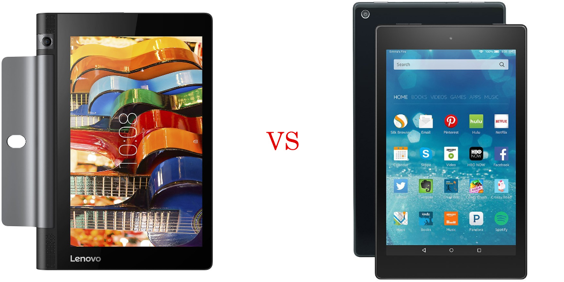Lenovo Yoga Tab 3 versus Amazon Fire HD 8 1