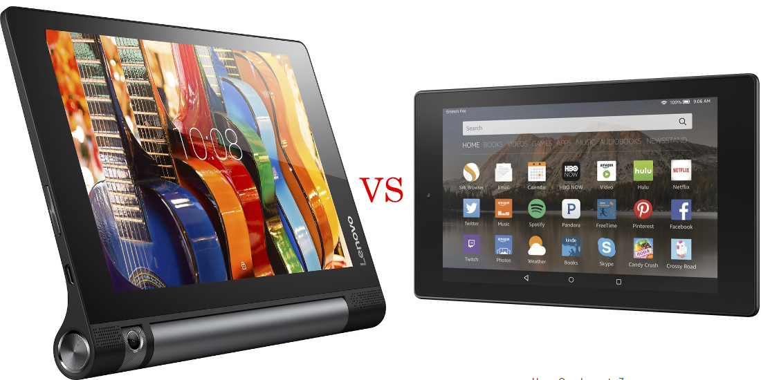 Lenovo Yoga Tab 3 versus Amazon Fire HD 8 2
