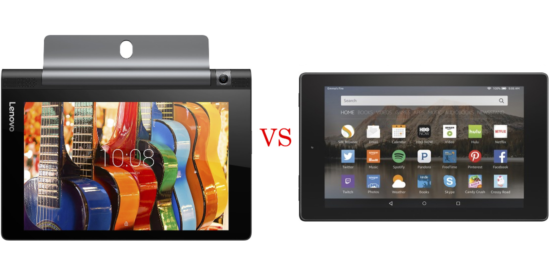 Lenovo Yoga Tab 3 versus Amazon Fire HD 8 3