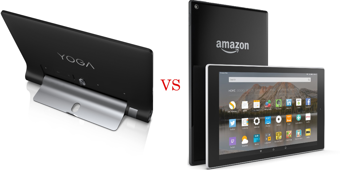 Lenovo Yoga Tab 3 versus Amazon Fire HD 8 4