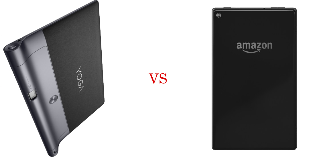 Lenovo Yoga Tab 3 versus Amazon Fire HD 8 6