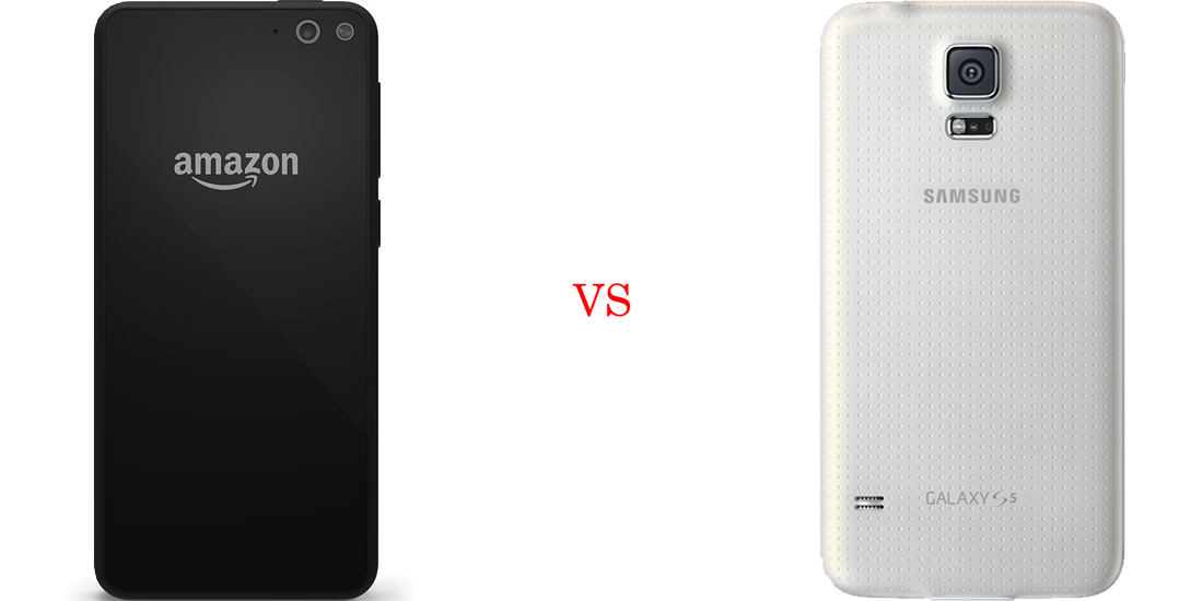 Amazon Fire Phone versus Samsung Galaxy S5 3