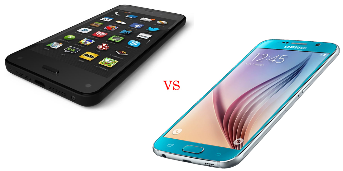 Amazon Fire Phone versus Samsung Galaxy S5 4
