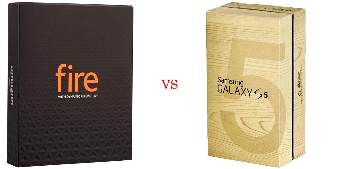 Amazon Fire Phone versus Samsung Galaxy S5 6