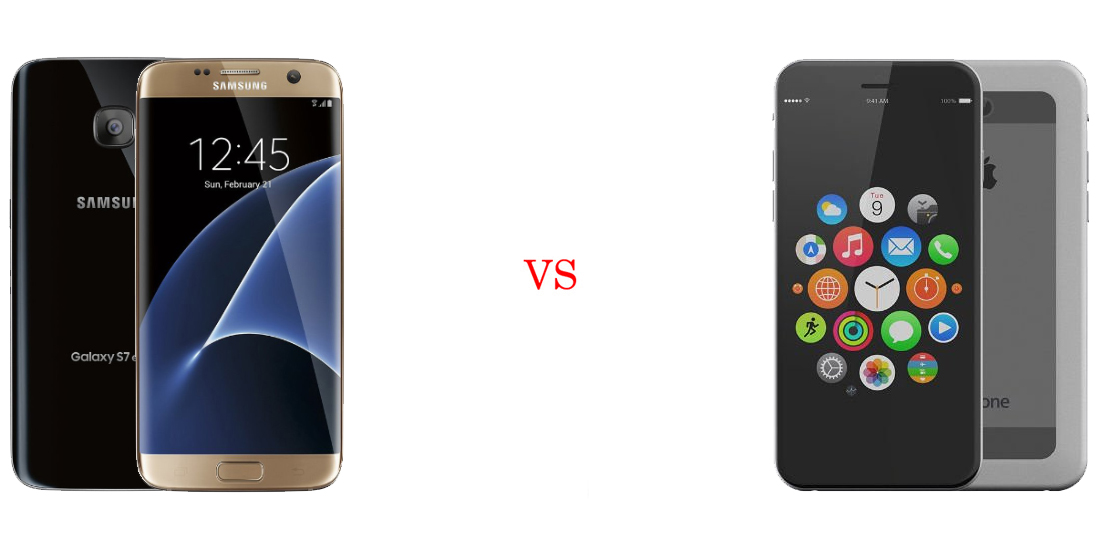 Samsung Galaxy S7 versus iPhone 7 5