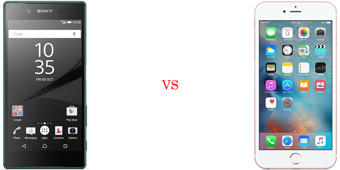 Sony Xperia Z5 Compact versus iPhone 6S 2