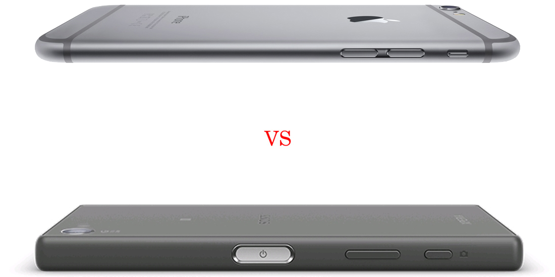 Sony Xperia Z5 Compact versus iPhone 6S 5