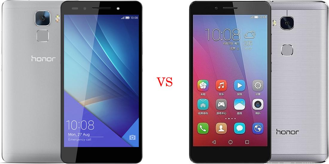 Huawei Honor 7 versus Huawei Honor 5X 1