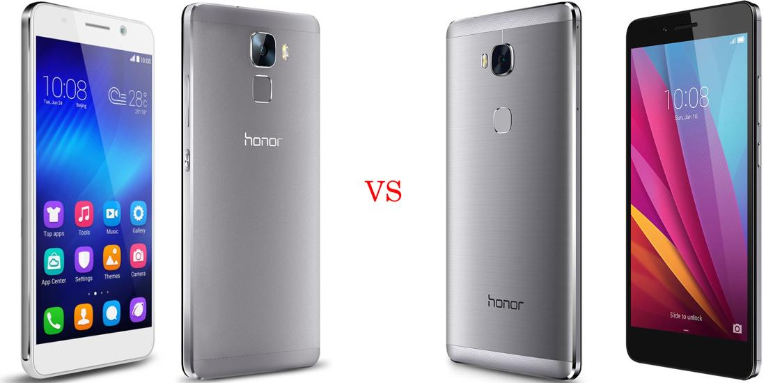 Huawei Honor 7 versus Huawei Honor 5X 5