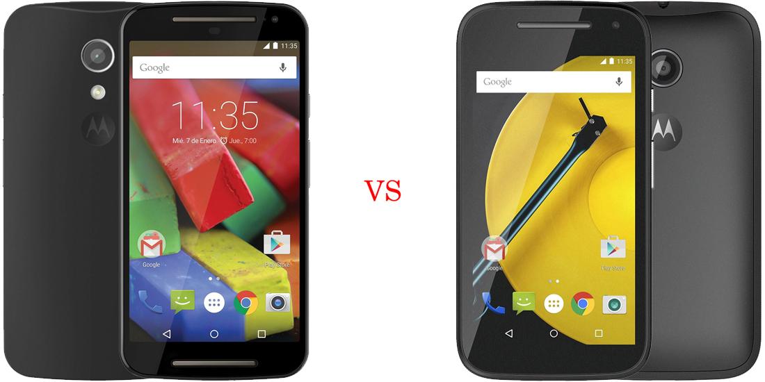 Motorola Moto G 2014 versus Motorola Moto E 2015 1