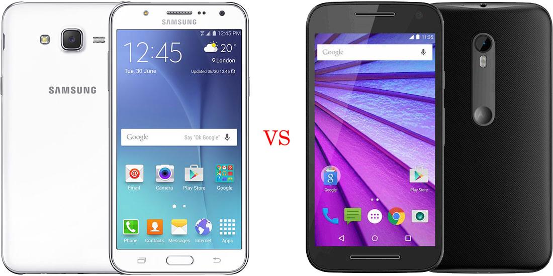 Samsung Galaxy J7 versus Motorola Moto G (Turbo Edition) 1