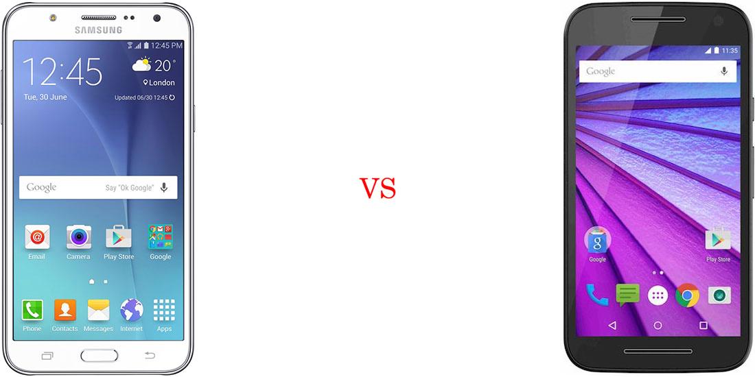 Samsung Galaxy J7 versus Motorola Moto G (Turbo Edition) 2