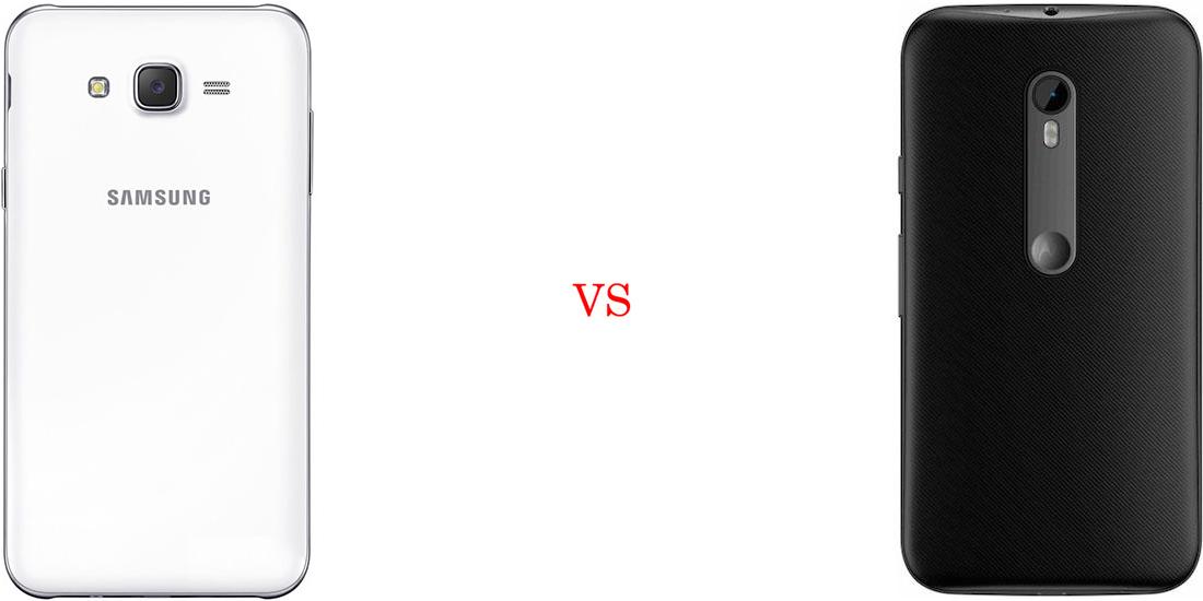 Samsung Galaxy J7 versus Motorola Moto G (Turbo Edition) 3