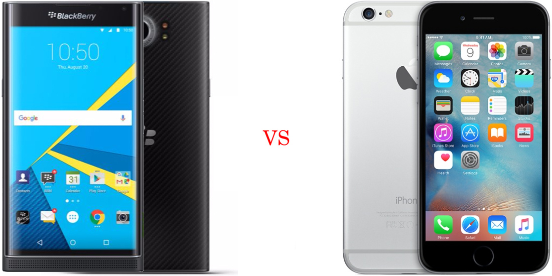 BlackBerry Priv versus iPhone 6S 1