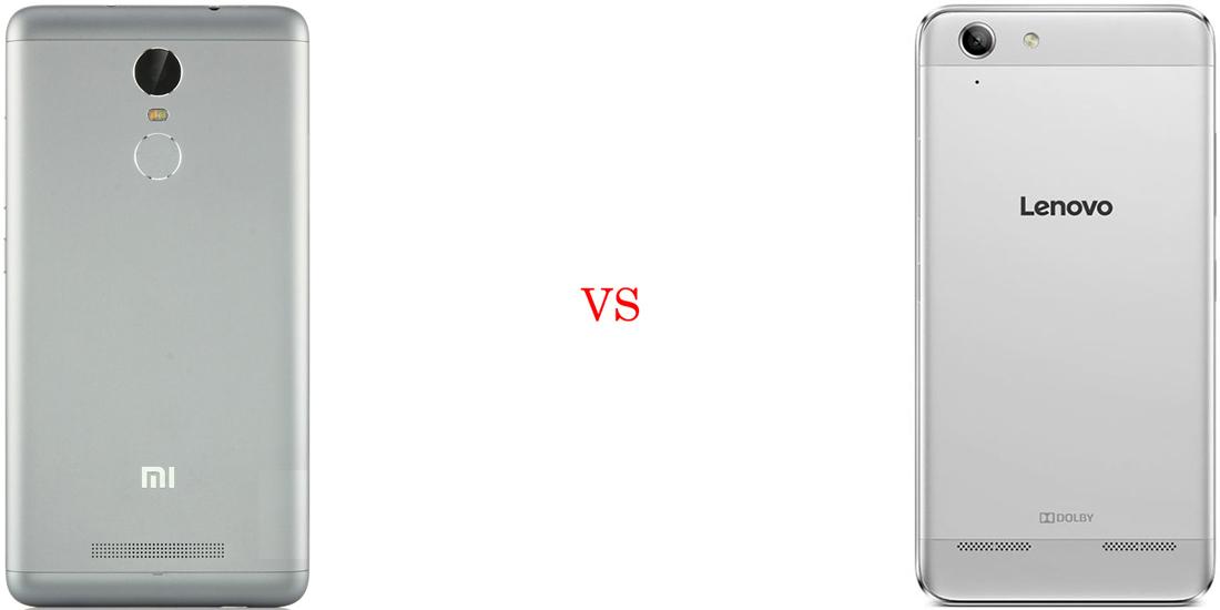 Xiaomi Redmi Note 3 versus Lenovo Vibe K5 Plus 3