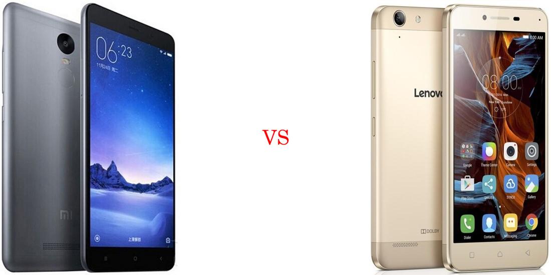Xiaomi Redmi Note 3 versus Lenovo Vibe K5 Plus 5