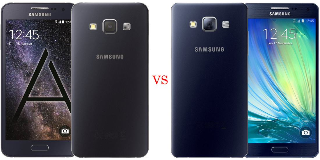 Samsung Galaxy A3 versus Samsung Galaxy A5 1