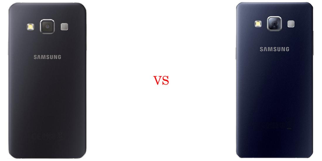 Samsung Galaxy A3 versus Samsung Galaxy A5 3
