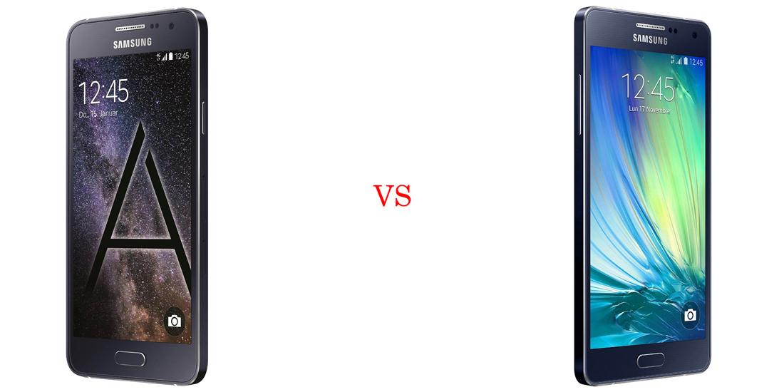 Samsung Galaxy A3 versus Samsung Galaxy A5 5