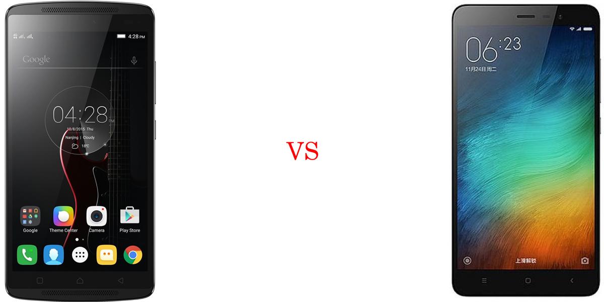 Lenovo K4 Note versus Xiaomi Redmi Note 3 4