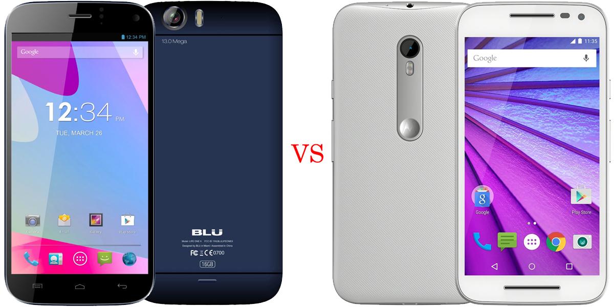 BLU Life One X versus Motorola Moto G (2015) 1