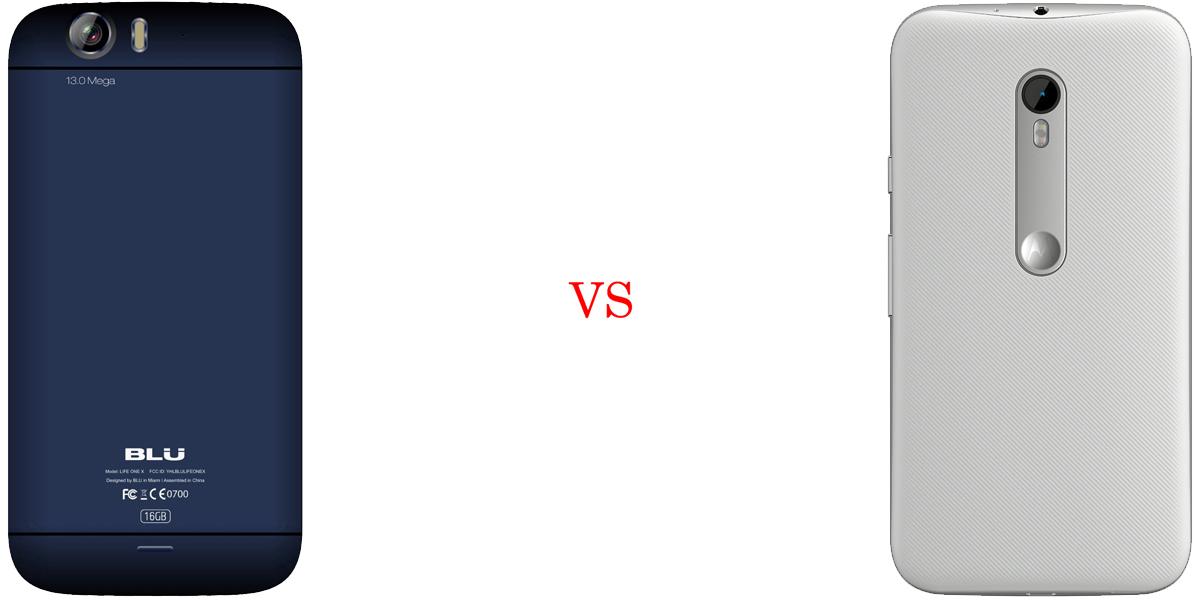 BLU Life One X versus Motorola Moto G (2015) 3