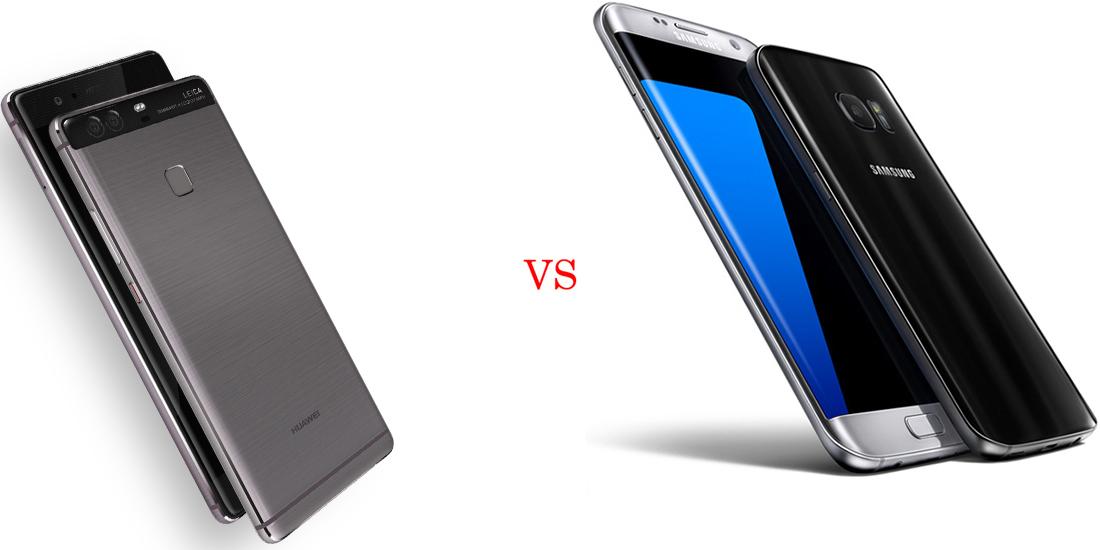 Huawei P9 Plus versus Samsung Galaxy S7 Edge 5