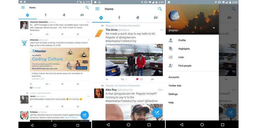 Twitter renueva el diseno de su aplicacion para Android 1
