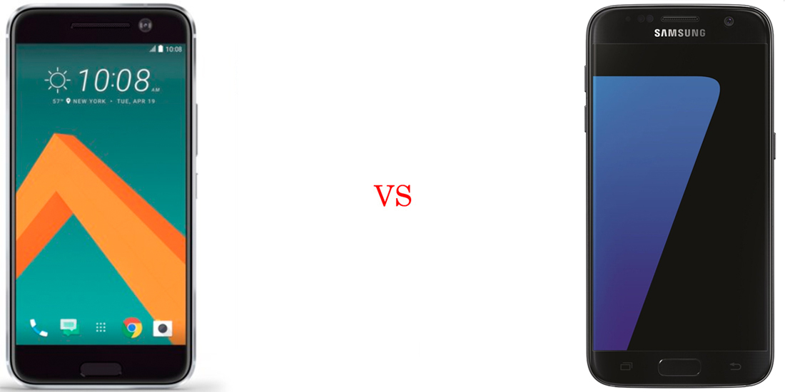 HTC 10 versus Samsung Galaxy S7 2