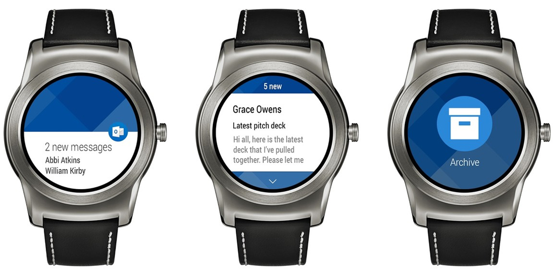 Microsoft Outlook se integra con los smartwatches Android Wear 1