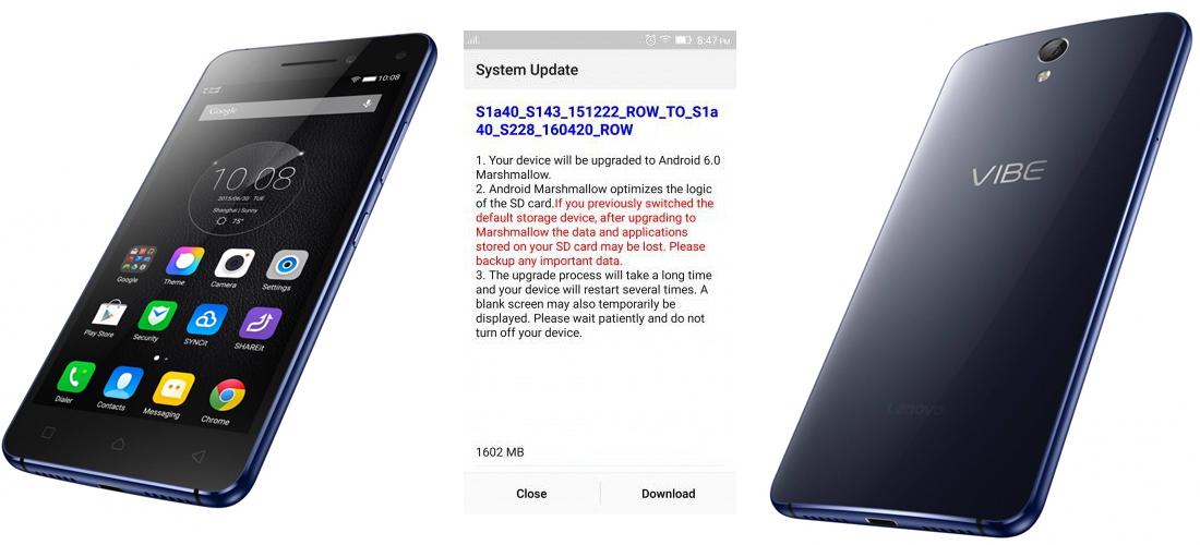Lenovo Vibe S1 recibe oficialmente Android 6.0 Marshmallow 1