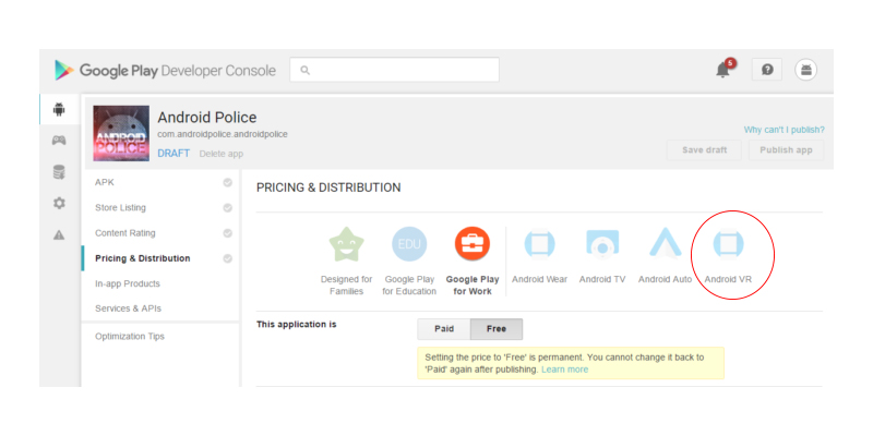 Android VR e quase oficial e confirmado pelo Google Play 1