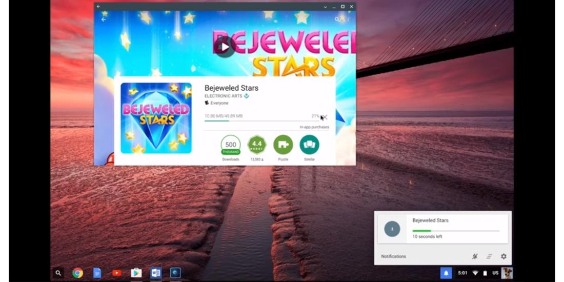 Google muestra el funcionamiento de las apps de Android en Chrome OS 1