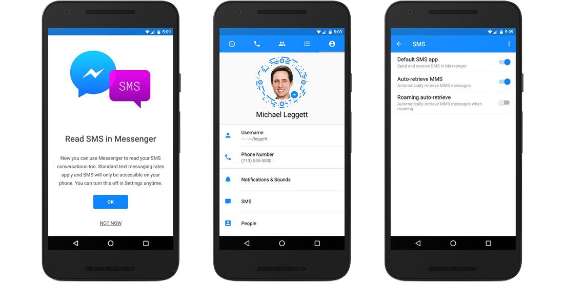 Facebook Messenger integra los SMS en Android 1