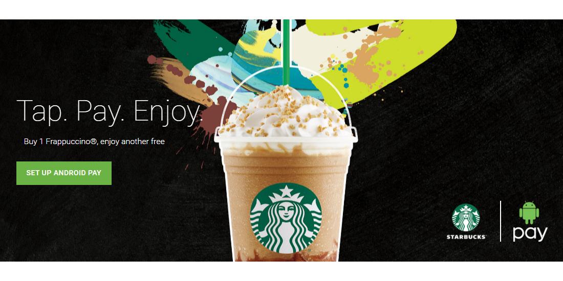 Frappuccino gratis por pagar con Android Pay en un Starbucks UK 1