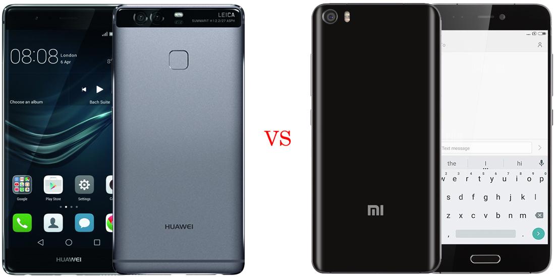 Huawei P9 versus Xiaomi Mi5 1