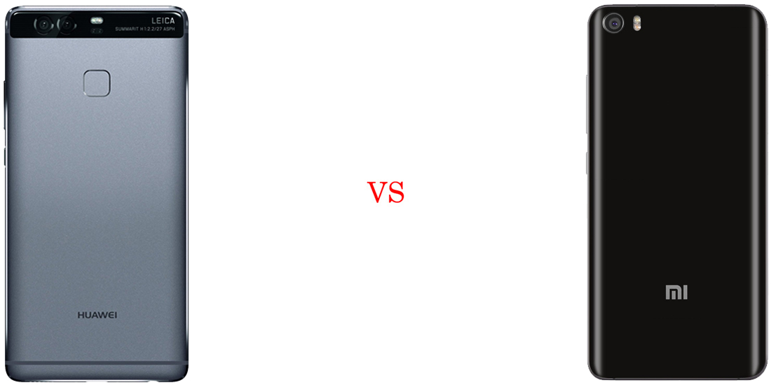 Huawei P9 versus Xiaomi Mi5 3