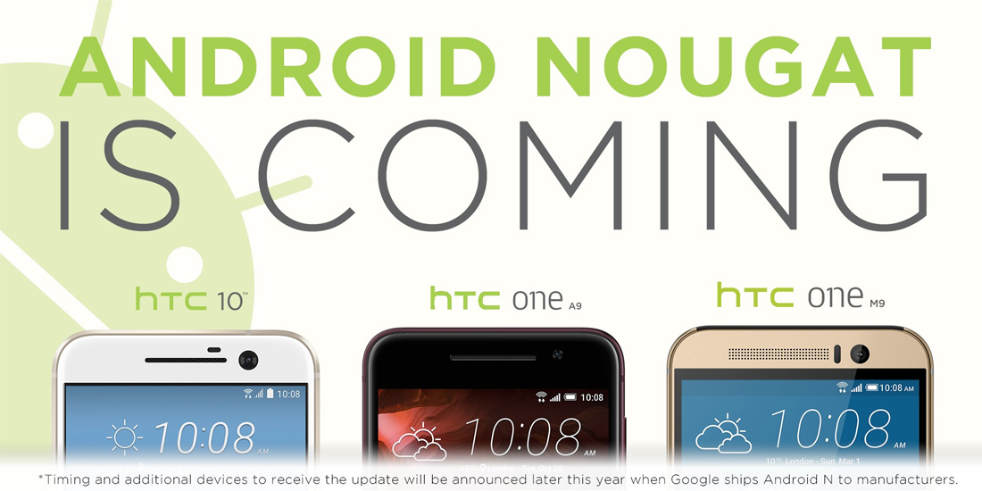 HTC announces smartphones upgradable to Android Nougat 1