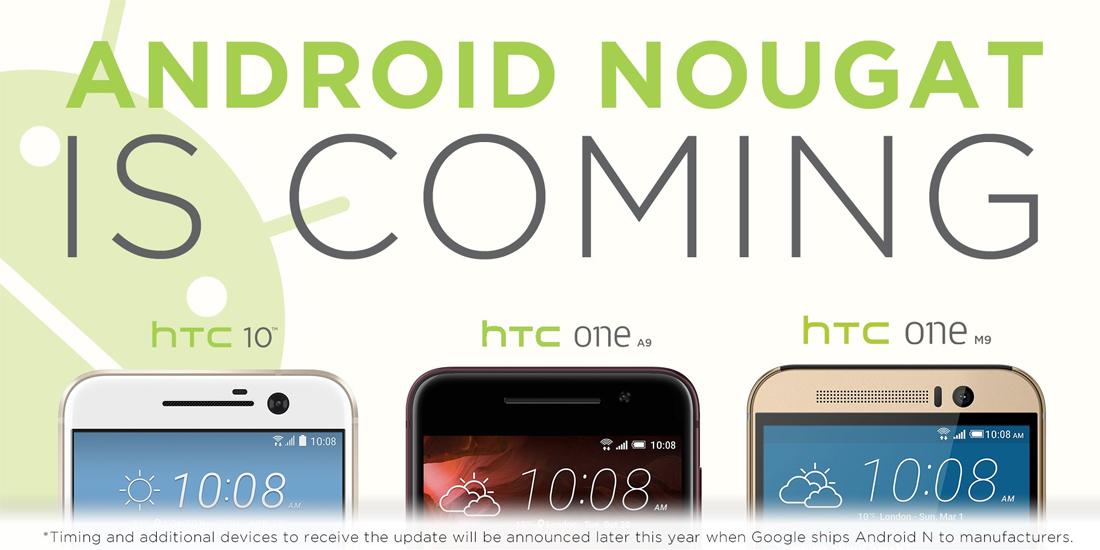 HTC anuncia smartphones atualizaveis para Android Nougat 1