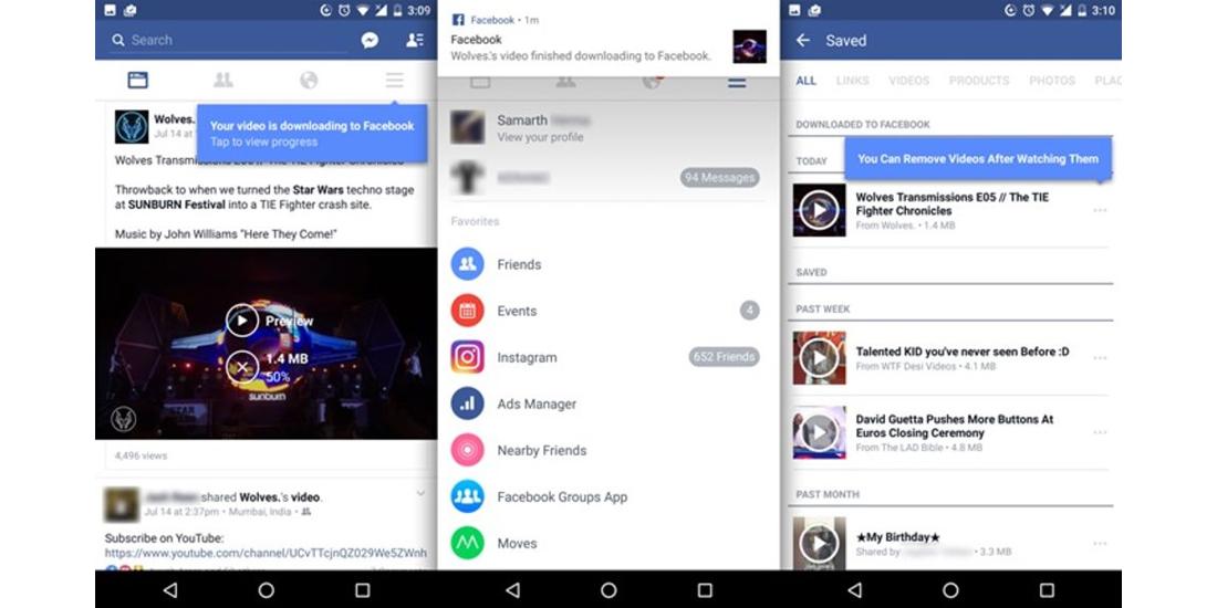 Facebook para Android ahora permite ver videos incluso offline 1