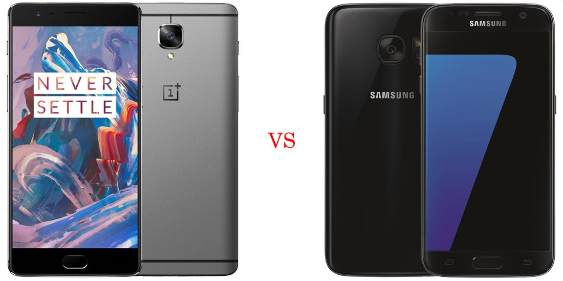 OnePlus 3 versus Samsung Galaxy S7 1