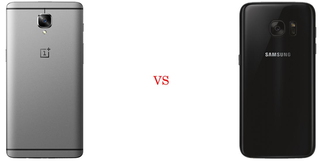 OnePlus 3 versus Samsung Galaxy S7 3