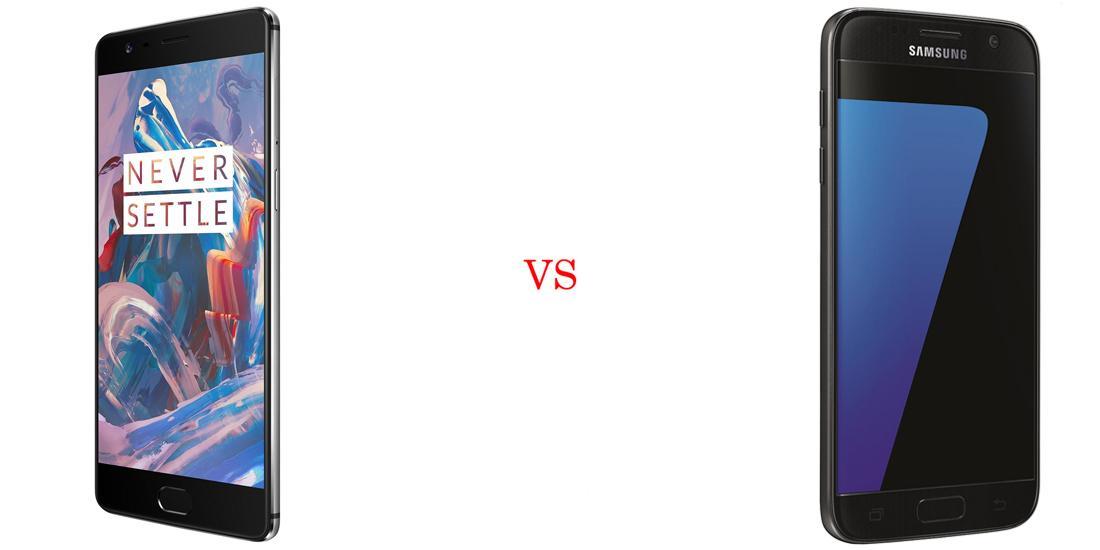 OnePlus 3 versus Samsung Galaxy S7 5