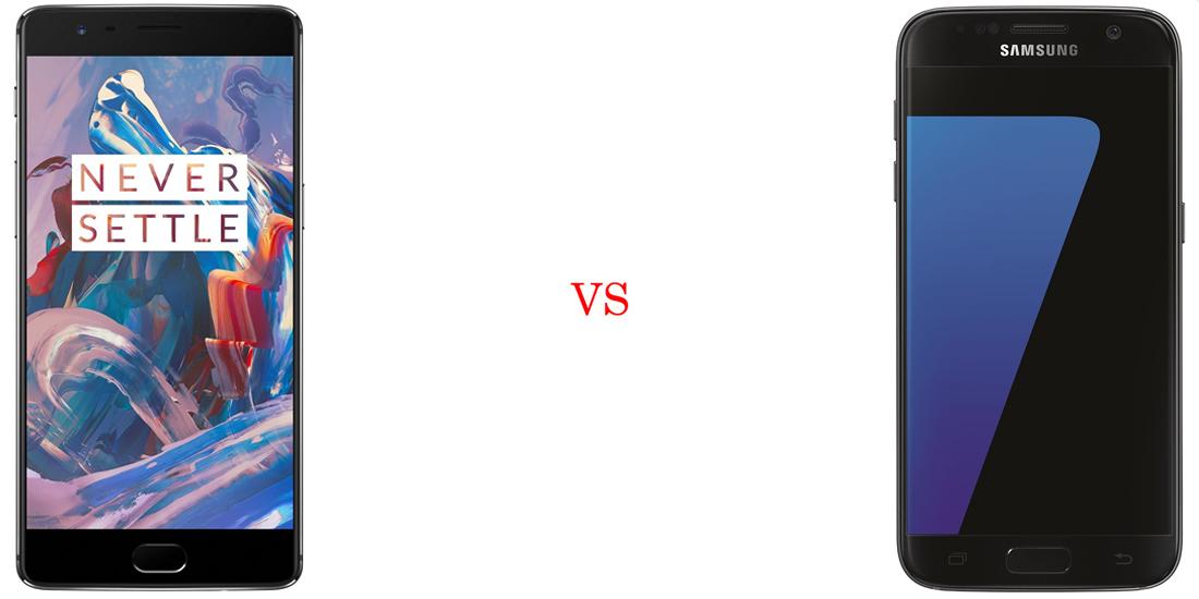 OnePlus 3 vs Samsung Galaxy S7 - Comparativo 2