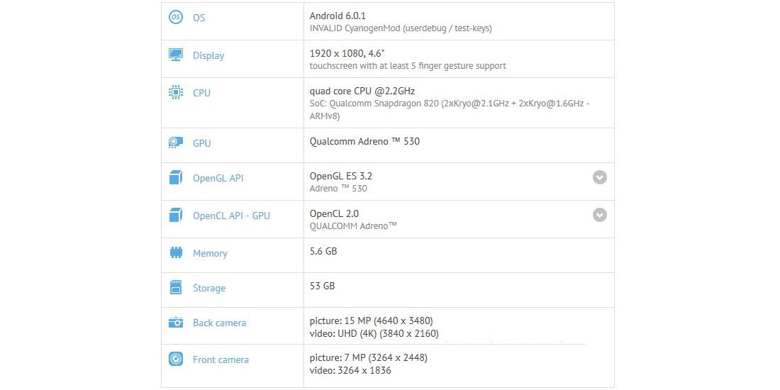OnePlus 3 Mini aparece como smartphone Android en GFXBench con 4.6 pulgadas FHD y 6 GB de RAM 1